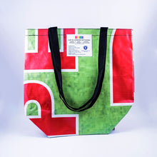 Up-cycled billboard tote bags