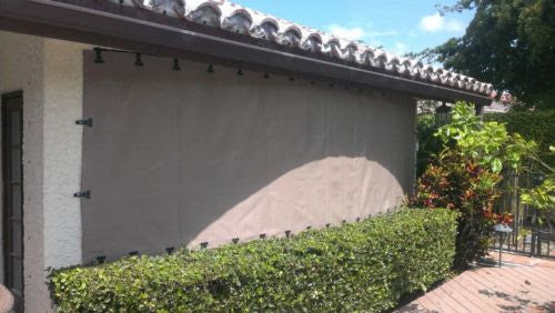 Load Disbursement Hurricane Protection Fabric System