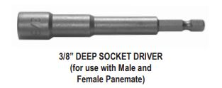 "3/8"" DEEP SOCKET DRIVER (for use with Male and Female Panemate)"