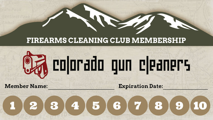 Colorado Gun Cleaners Cleaning Club Card