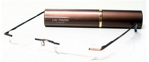 Lou Fanzini Readers - Italian Design, Rimless, Compact - ReadingGlassWorld