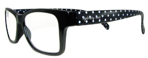 Sydney Love 1003 in Black front w/ B&W dot Temples - ReadingGlassWorld