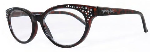 Sydney Love 424 in Blue Tortoise or Dark Brown Tortoise w/ Crystal accents - ReadingGlassWorld