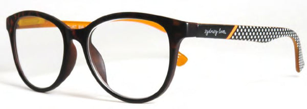 Sydney Love 729 in Tortoise front w/black/white dot temples - ReadingGlassWorld
