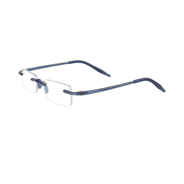 Visualite 08 Rimless Blue Light Filtering Computer Readers in Navy Blue, Crystal Clear or Classic Tortoise