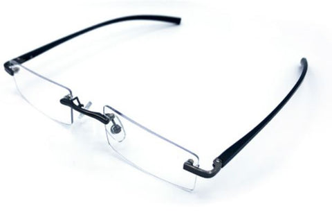 Visualite X Aluminum Stem Rimless Rectangle in Black, Blue, Burgundy or Silver