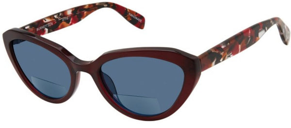 Scojo Burnett Bifocal Sun Reader in Burgundy - ReadingGlassWorld