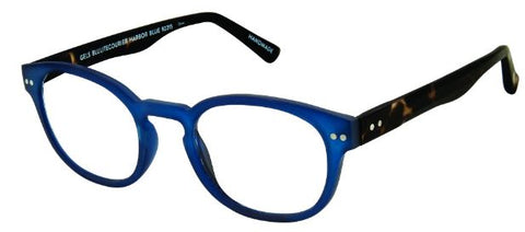 Scojo Gels Blulite Courier in translucent Harbor Blue or Matte Tortoise - ReadingGlassWorld