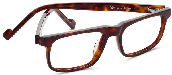 Renee's Readers Dave in Brown or Grey Tortoise, w/ Extra Long Temples - ReadingGlassWorld