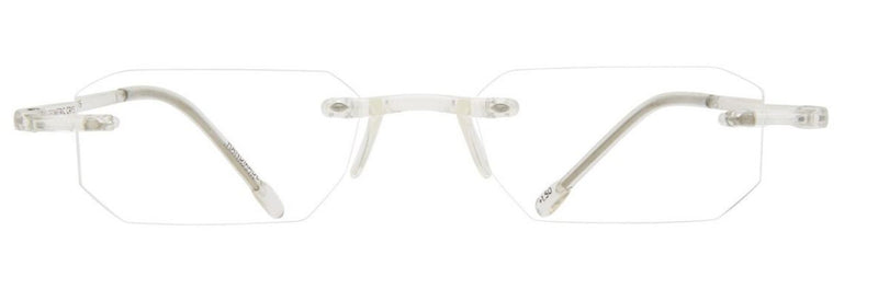 Scojo Gel Rimless Geometric in Crystal or Tortoise