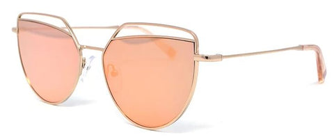 Scojo New York GOBSMACKED sunglasses in rose gold - ReadingGlassWorld