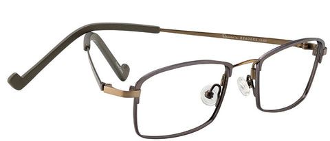 Renee's Readers Lightweight Ian in Gray/Taupe or Black/Brown - ReadingGlassWorld