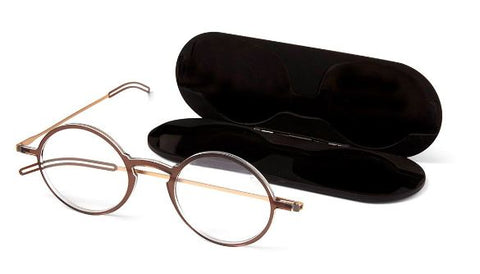 Thin Optics Manhattan Reading Glasses in Black, Brown or Clear - ReadingGlassWorld