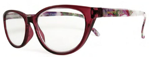 Max Edition ME4503 in Burgundy or Tortoise Floral - ReadingGlassWorld