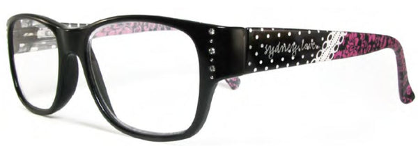 Sydney Love 1007 in Black Lace, Black Floral or Black Dot - ReadingGlassWorld
