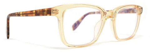Scojo Gels Blulite Sylvan Place in Clear Amber and Brown Tortoise Temples (+0.00 strength only) - ReadingGlassWorld