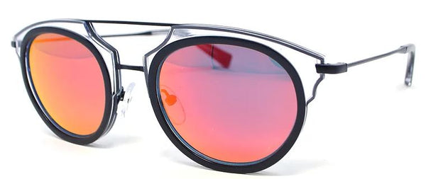 Scojo New York TANGOED sunglasses in black w/red flash lens - ReadingGlassWorld
