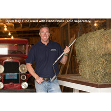 open hay tube with hand brace #117