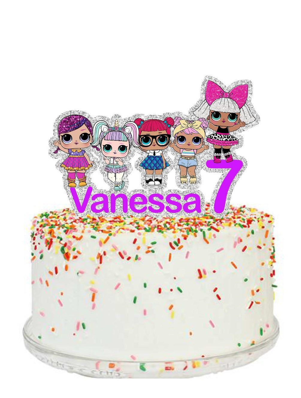 Lol Surprise Dolls Cake Topper Little Luna Station