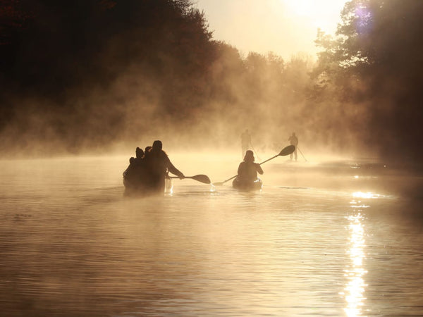 Sunrise paddling in Maine can be magical.