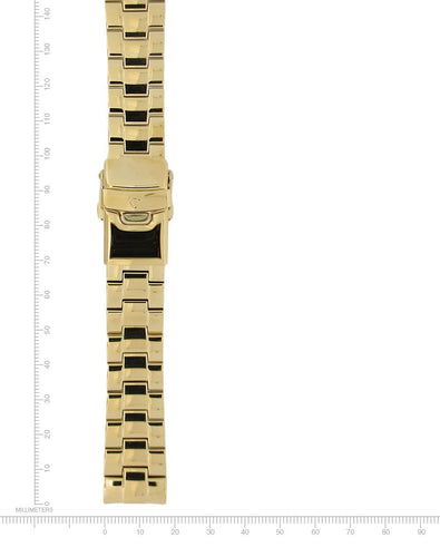 Logic Gold-Plated Stainless Steel Bracelet - 18mm