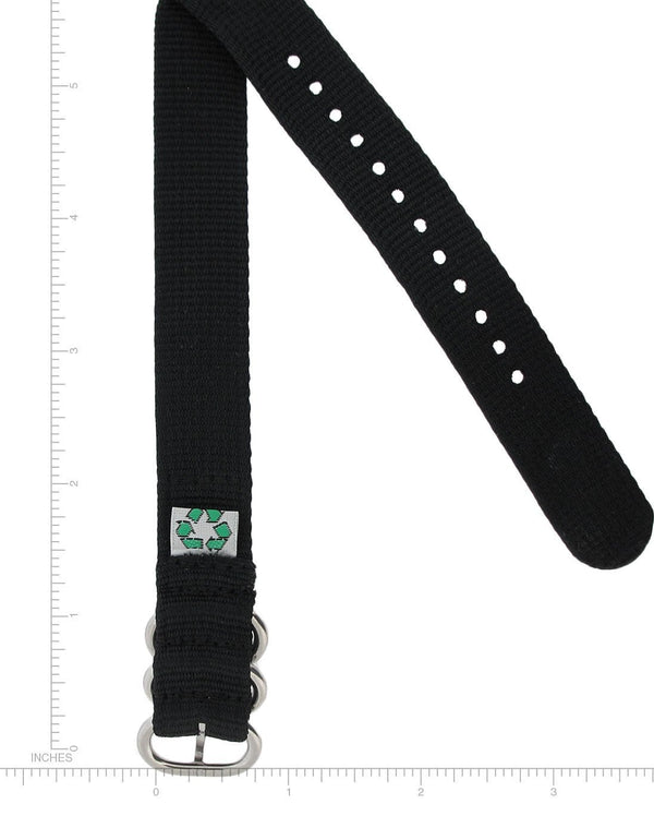 18 MM RE-PLY SPORT BAND, BLACK
