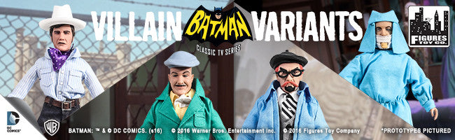 Batman 1966 TV Villain Variant Series