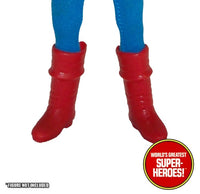 "Captain America Custom Boots Mego Reproduction for 8"" Action Figure - Worlds Greatest Superheroes"