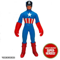"Captain America Custom Red Gloves Mego Reproduction for 8"" Action Figure - Worlds Greatest Superheroes"