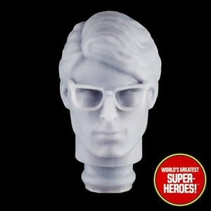 "3D Printed Head: Clark Kent Christopher Reeve for Mego WGSH 8"" Action Figure"