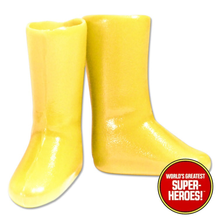 "Kid Flash Yellow Boots Mego WGSH Repro for 7"" Action Figure - Worlds Greatest Superheroes"