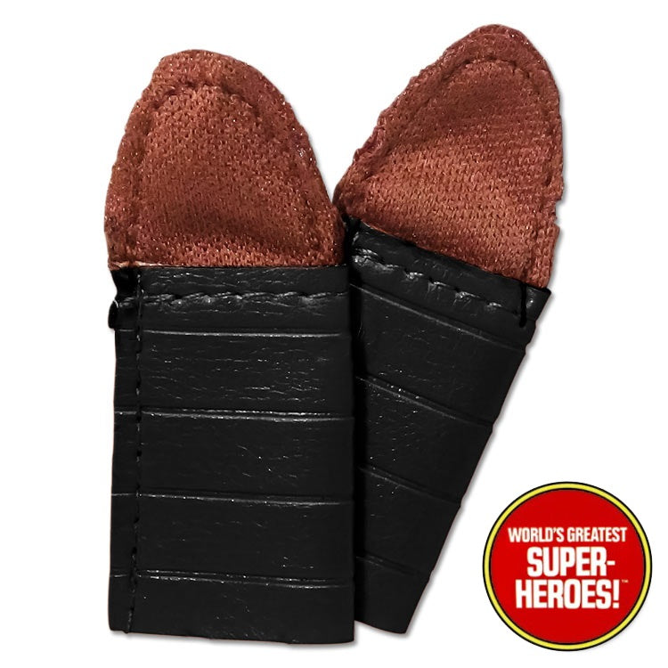 "Planet of the Apes: Black Ape Soldier Gloves Mego Repro for 8"" Action Figure - Worlds Greatest Superheroes"