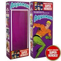 "Aquaman Mego WGSH Reproduction Box For 8"" Action Figure - Worlds Greatest Superheroes"