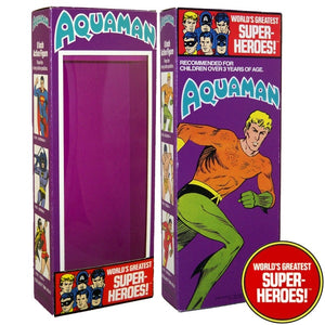 "Aquaman Mego World's Greatest Superheroes Repro Box For 8"" Action Figure - Worlds Greatest Superheroes"