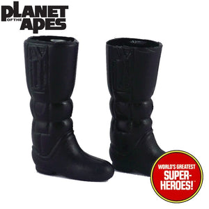 "Planet of the Apes: Glyphic Black Boots Mego Repro for Doctor Zaius 8"" Action Figure - Worlds Greatest Superheroes"