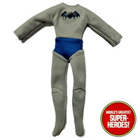 "Batman 1st Appearance Outfit Bodysuit Mego WGSH for 8"" Action Figure - Worlds Greatest Superheroes"