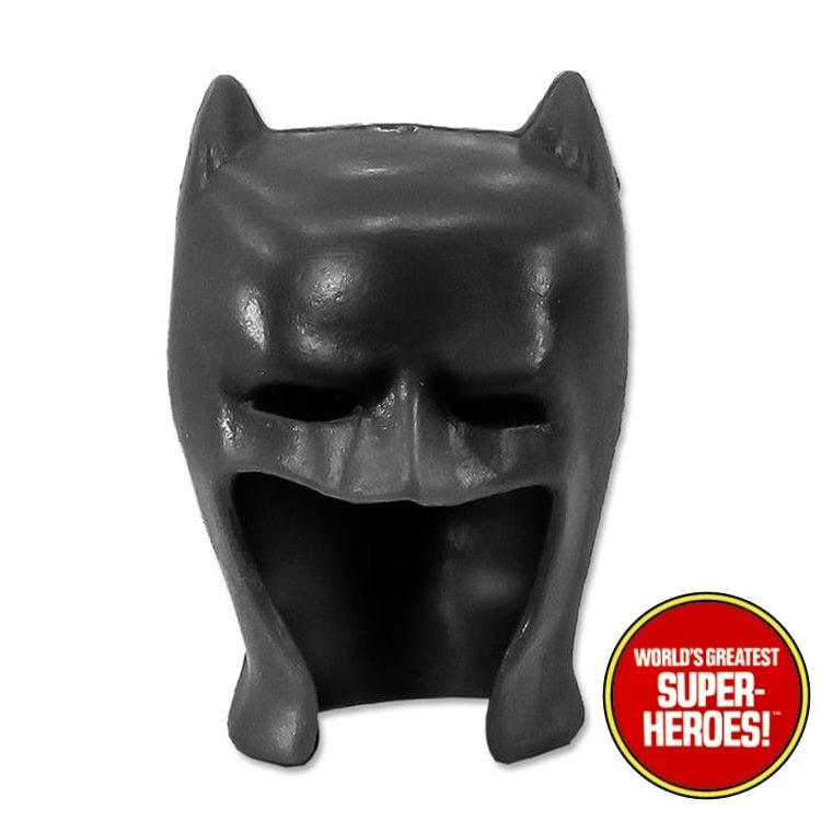 "Batman Removable Custom Black Cowl Mego WGSH for 8"" Action Figure - Worlds Greatest Superheroes"