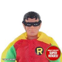 "Robin Fabric Mask Mego Reproduction for 8"" Action Figure"