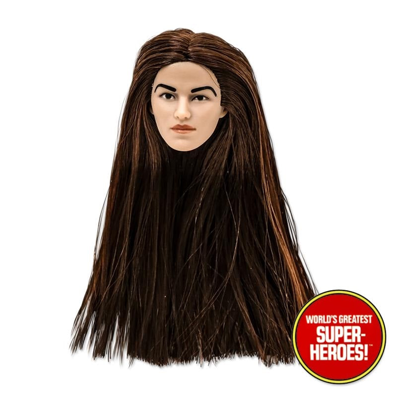 "Brown Hair Type S Female Head for Custom 8"" Action Figure"