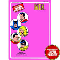 "Batgirl 1976 Official WGSH Repro Mego Blister Card For 8"" Action Figure - Worlds Greatest Superheroes"