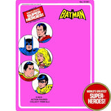 "Batman 1976 Official WGSH Repro Mego Blister Card For 8"" Action Figure - Worlds Greatest Superheroes"