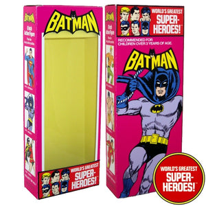 "Batman Mego WGSH Reproduction Box For 8"" Action Figure - Worlds Greatest Superheroes"