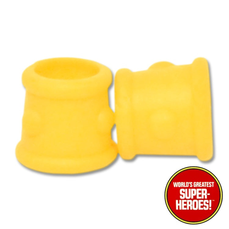 "Conan Yellow Wrist Guards Mego WGSH Repro for 8"" Action Figure - Worlds Greatest Superheroes"