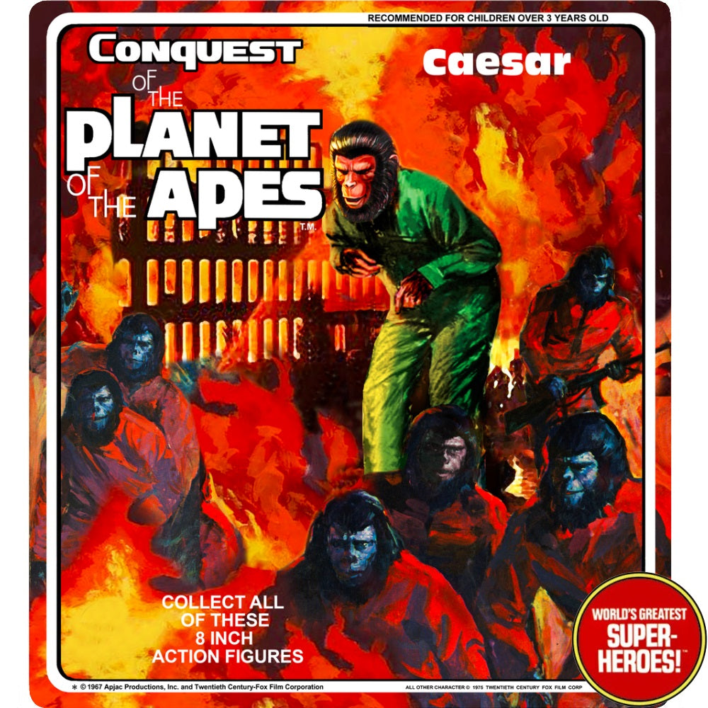 "Conquest of the Planet of the Apes: Caesar Mego Custom 8"" Blister Card"