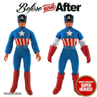 "Captain America Custom Upgrade Kit for Mego WGSH  8"" Action Figure"