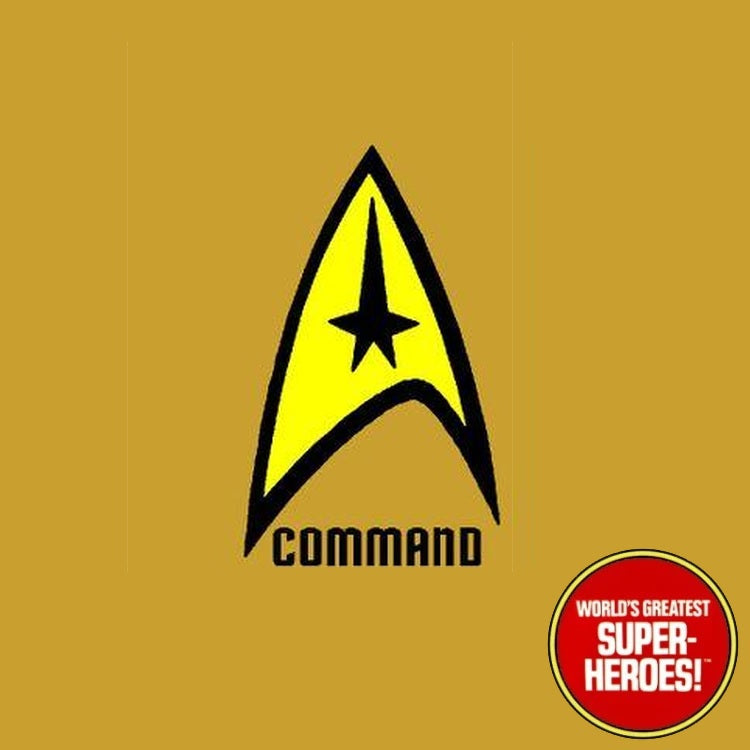 "Star Trek: Command Die Cut Decal Emblem Sticker for Mego 8"" Action Figure"