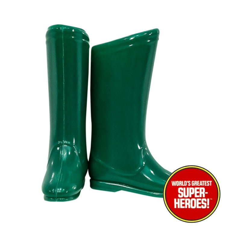 "Green Arrow Boots Mego World's Greatest Superheroes Repro for 8"" Action Figure - Worlds Greatest Superheroes"