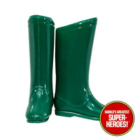"Green Arrow Boots Mego Reproduction for 8"" Action Figure - Worlds Greatest Superheroes"