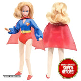 "Supergirl Cape Mego World's Greatest Superheroes Repro For 8"" Action Figure - Worlds Greatest Superheroes"