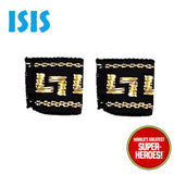 "Isis Fabric Wristbands Cuffs Bracelets Repro for Mego WGSH 8"" Action Figure"
